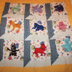 Vintage Animal Theme Baby Quilt